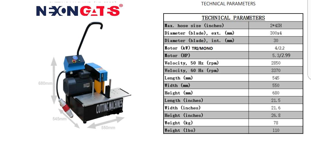 Hose Cutting Machine (NG-CM32) Image