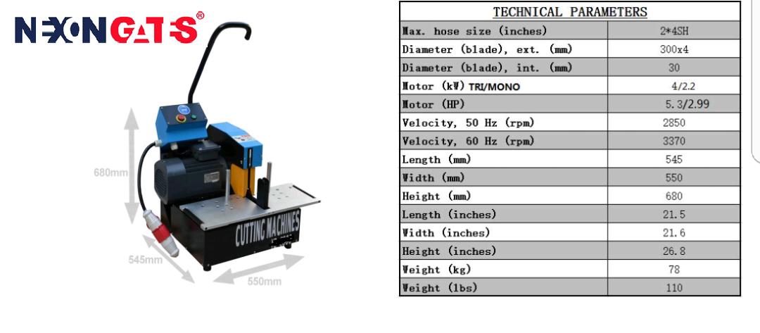 Hose Cutting Machine (NG-CM20) Image